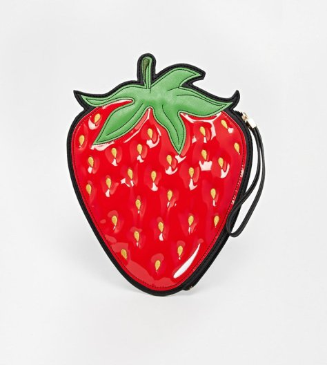 new look strawberry clutch
