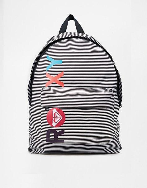 roxy sugar baby grey backpack