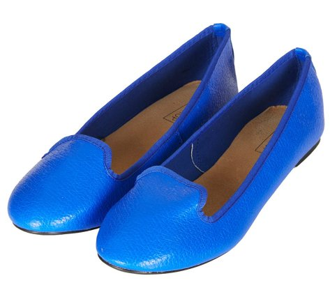 topshop-blue-marian-tumbled-slippers flat shoes