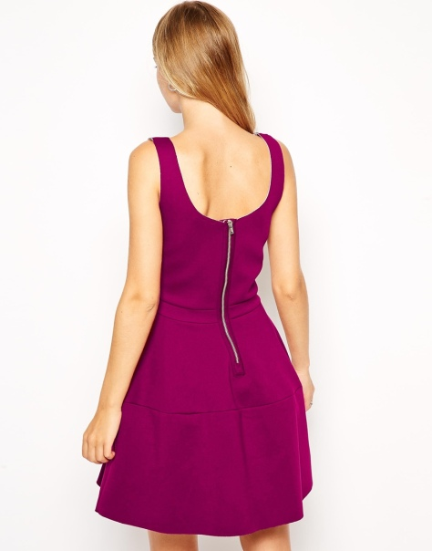 asos skater dress back view