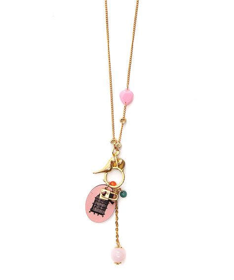 johnny loves rosie bird charm necklace