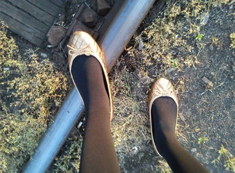 topshop quilted gold flat shoes