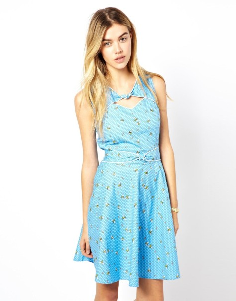 trollied dolly bee print dress