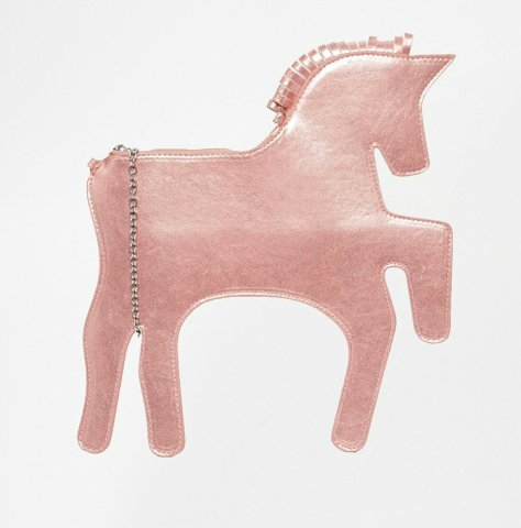 whitepepper unicorn clutch pink