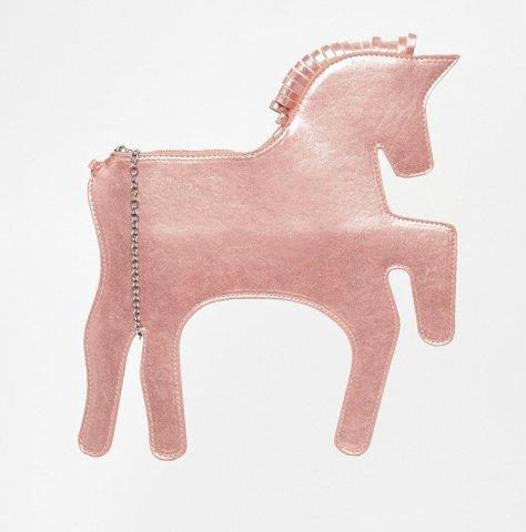 whitepepper unicorn clutch pink