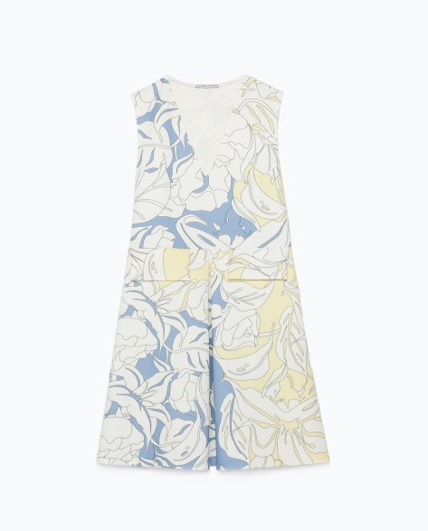zara fitted mini dress