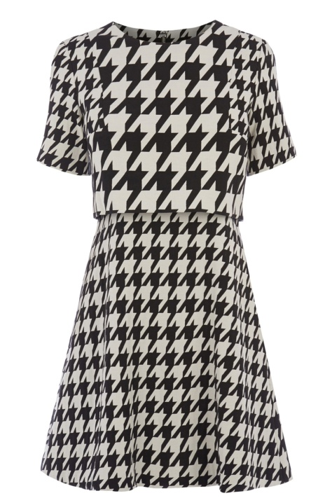 oasis black and white houndstooth dress
