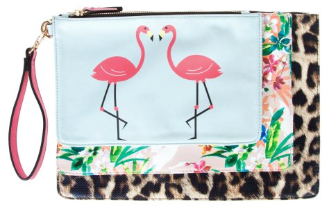 aldo flamingo clutch bag