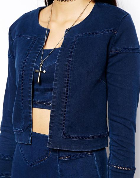 asos denim lader jacket