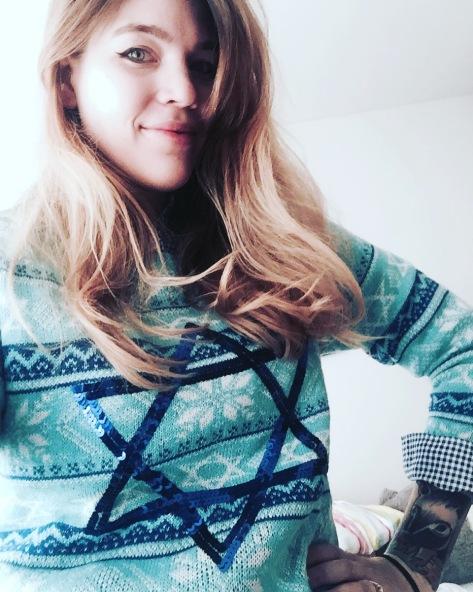 festive Jewish sweater